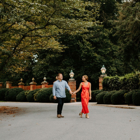 Roland Park Engagement // Christine + Reid // Baltimore Photographer