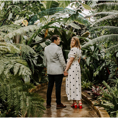 Rawlings Conservatory Engagement // Lindsay + Brian // Baltimore Photographer