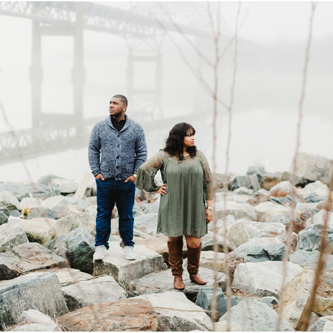 Perry Point Engagement // Taisha + Prentis // Baltimore Maryland Photographer
