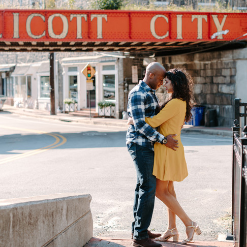 Downtown Ellicott City Engagement Session // Lynn + Robbie // Baltimore Photographer