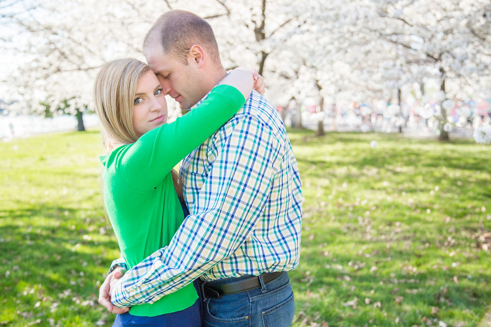 Engagement Portraits_Washington DC Cherry Blossoms_Alicia Wiley Photography