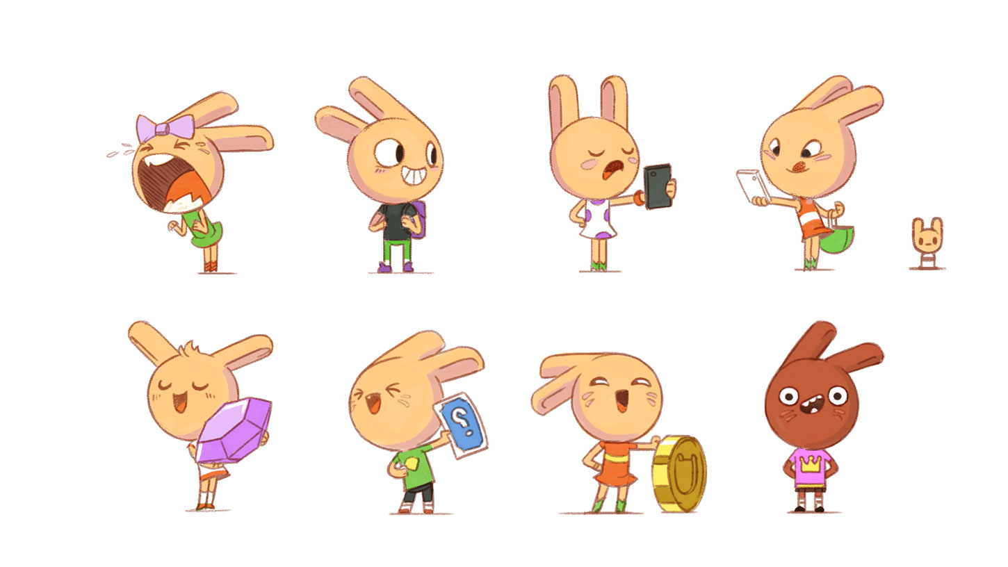 Bunnies character development