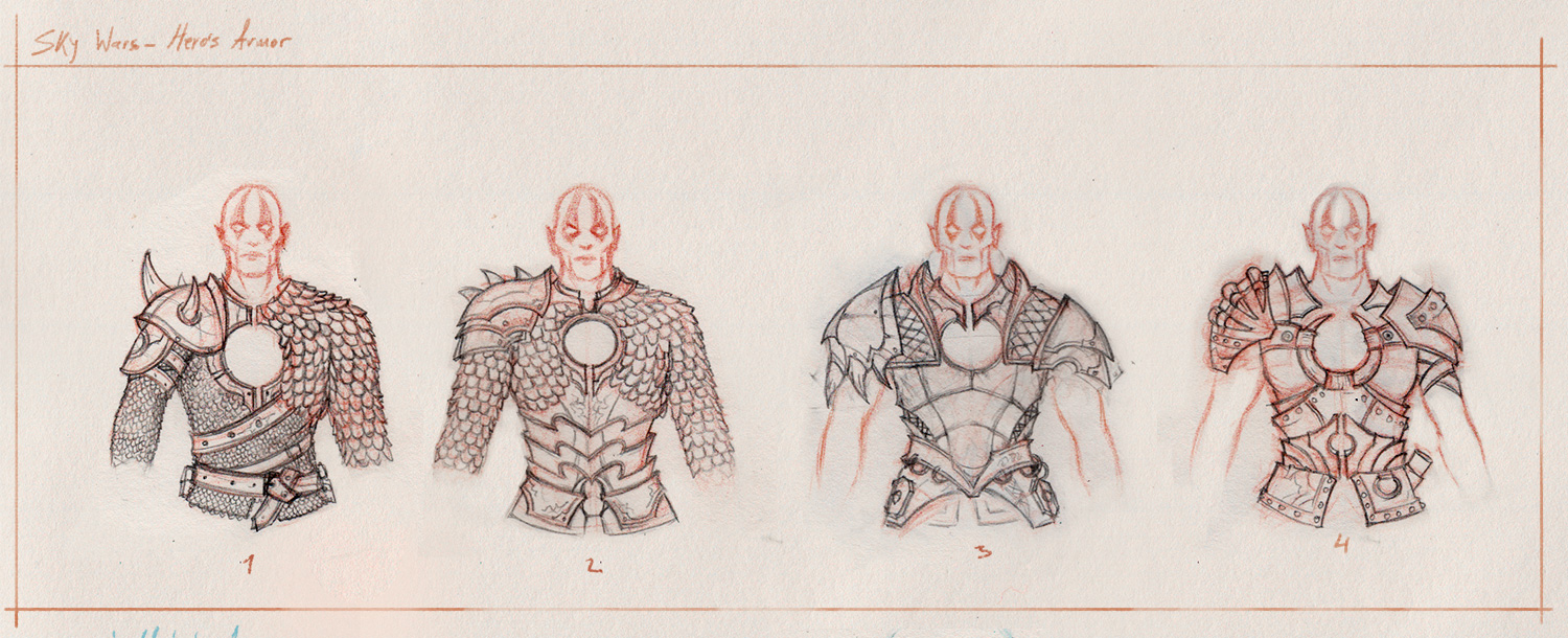 Hero's armor sketches