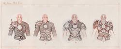Hero's armor sketches