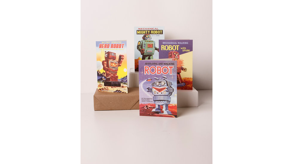 Rossi 1931 Greeting Cards - Robots