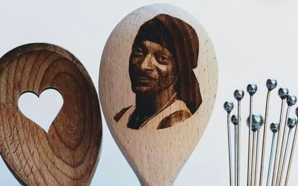 Wooden Spoon with Snoop Dogg's Picture