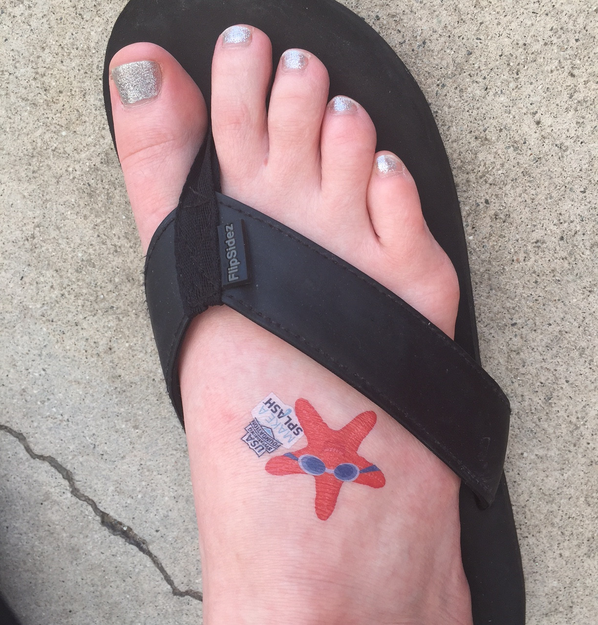 USA Swimming Temporary Tattoo