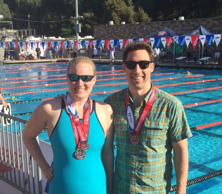Emily and John w/medals