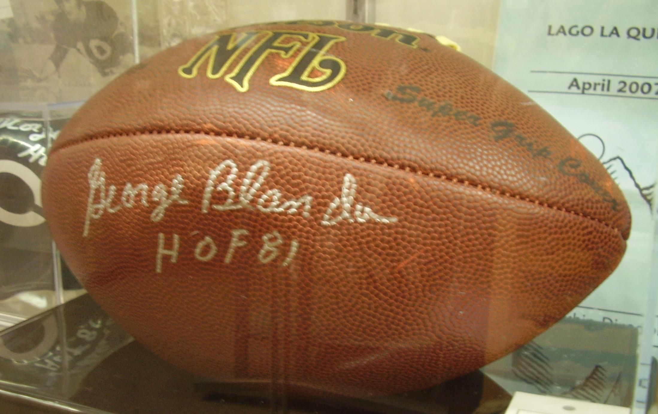 George Blanda Autographed Football