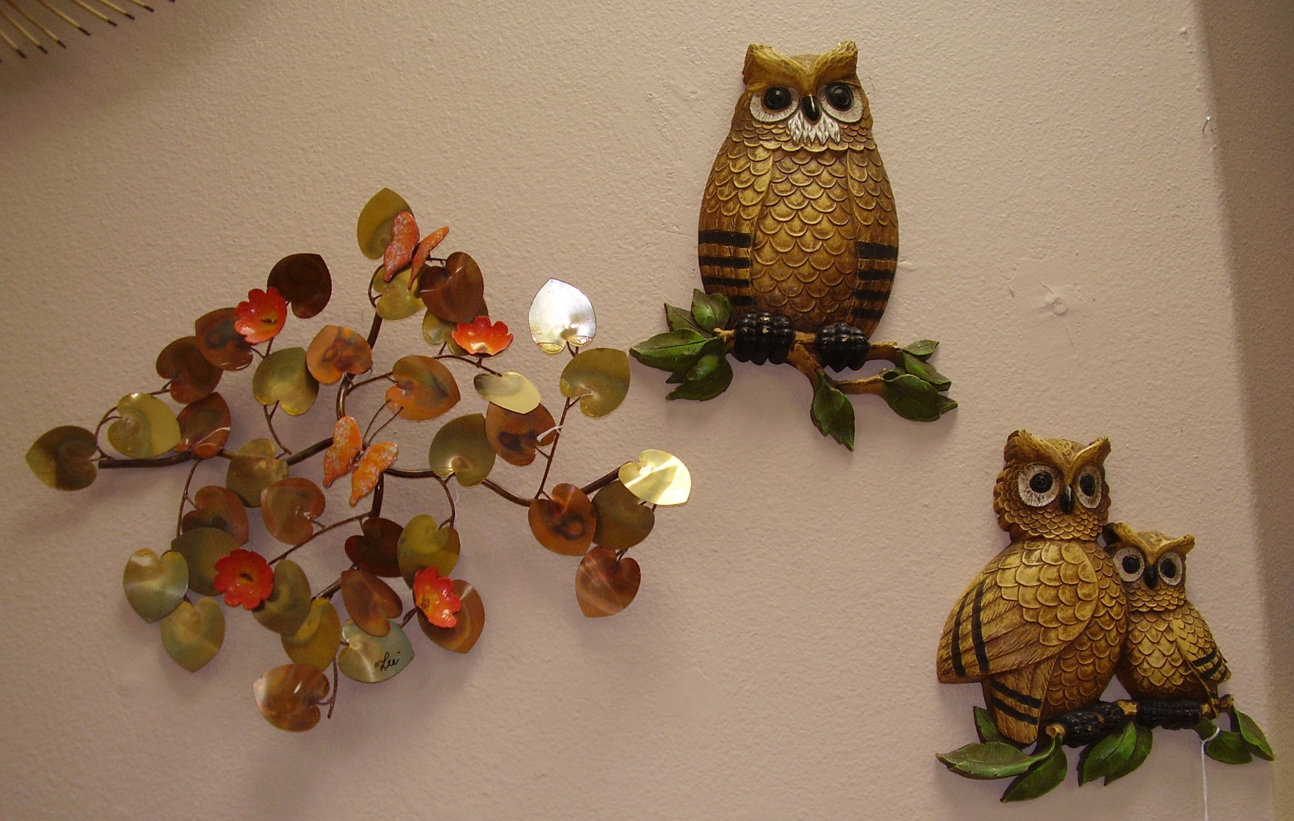Owls Wall Art Mid Century Modern