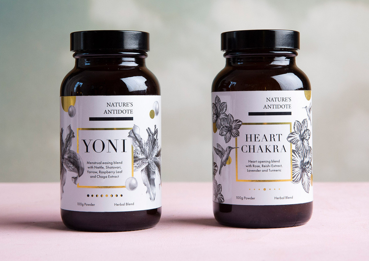 Label Design and Concept Nature's Antidote