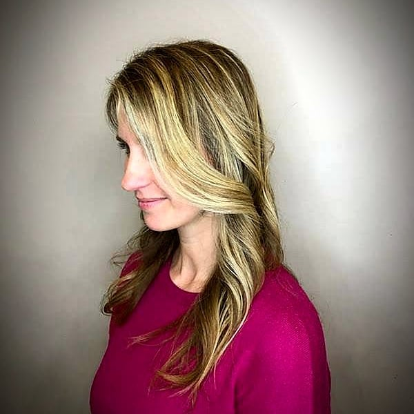 Blonde Balayage at Gordon salon in Wilmette with Melissa