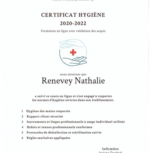 Certificat Hygiène 2020-2022