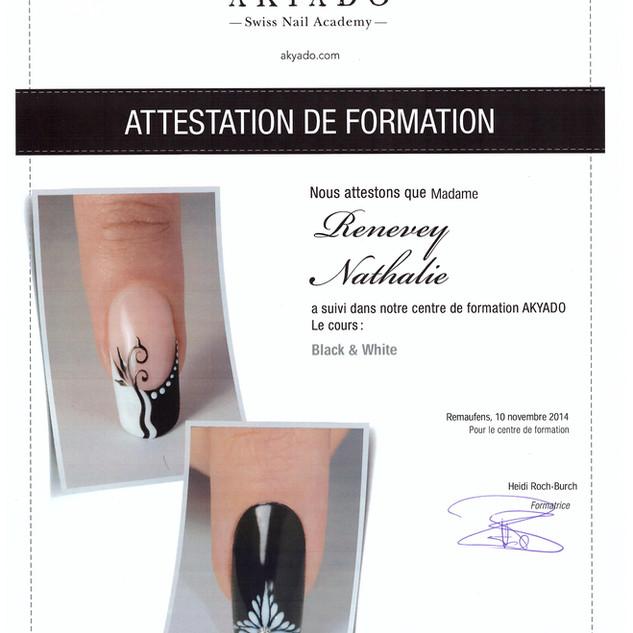 7. Nail Art - Black White