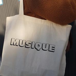 Nouveau Tote Bag pour Musique!