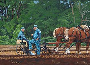 Two Plowmen Chatting in the Field