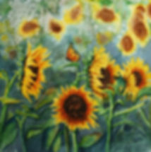 Sunflowers and Monarch.jpg