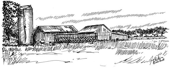 Silo, Corn Crib and Barns.jpg