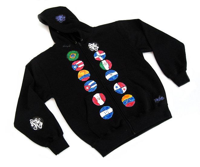 Latin Stripes hoodie
