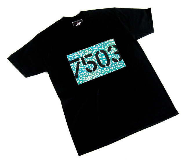7503 Card tee (Teal Leopard)