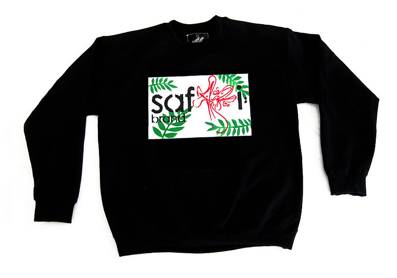 Leaf Card crewneck (Wht)