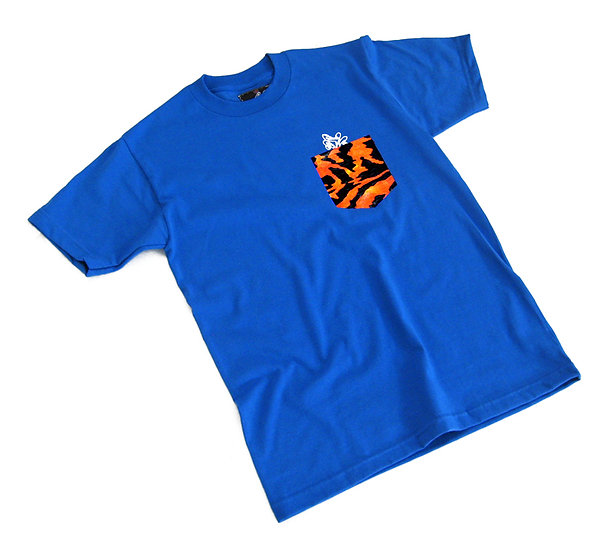 Wild Pocket tee (Orange Tiger)