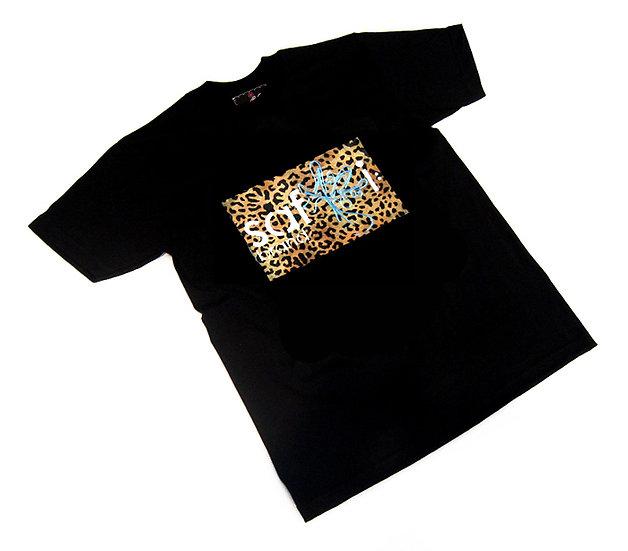 Wild Card tee (Gold Leopard)
