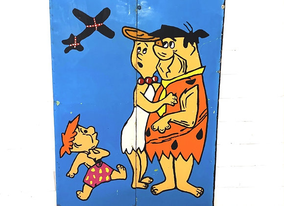 Kermisbord Flintstones (Fred, Wilma, Pebbles)
