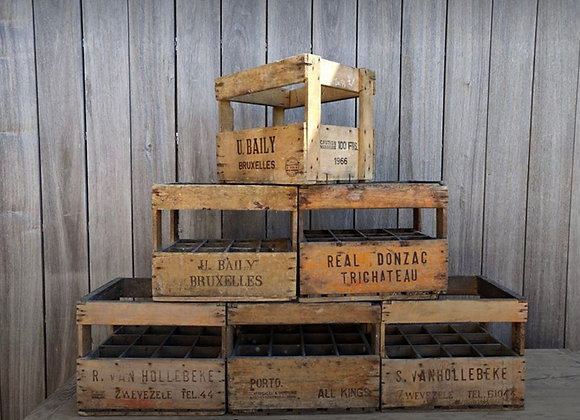 60 year old wine and liquor crates