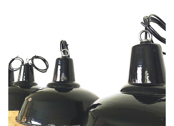 Industriële emaillelampen (Model A - Zwart)