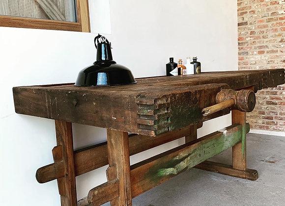 Eiken meubelmakerswerkbank