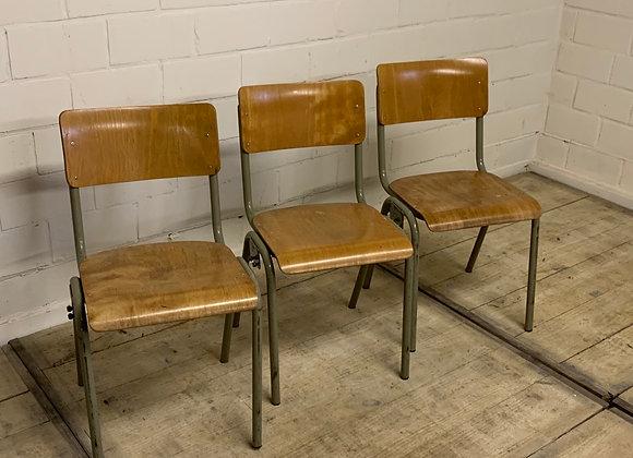 Aaneenschakelbare vintage stoelen 'Semal'