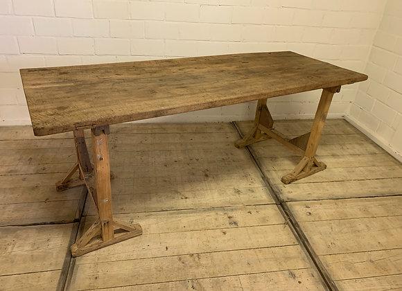 Antique trestle table