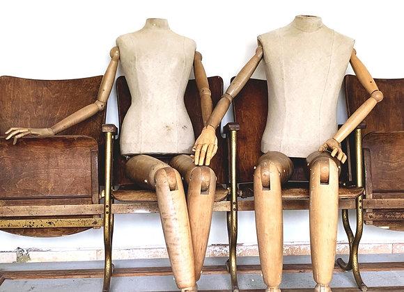 Set levensgrote ledenpoppen/mannequins (M/V)