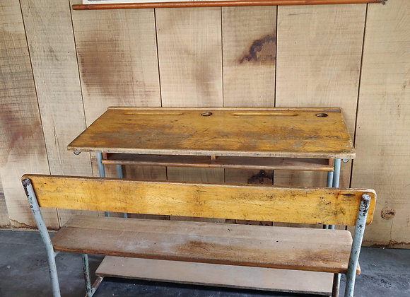 Vintage school bench (grey)