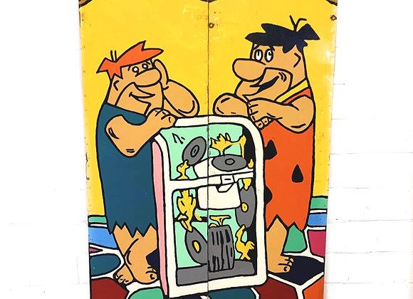 Kermisbord Flintstones (Barney, Fred)