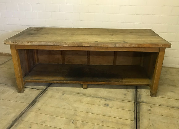 Large old baker's table