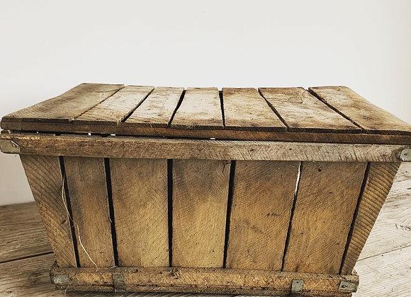 Vintage houten druivenplukmanden