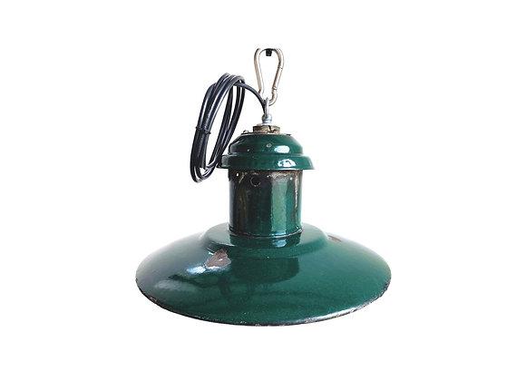 Industriële emaillelampen (Model C - Donker groen)