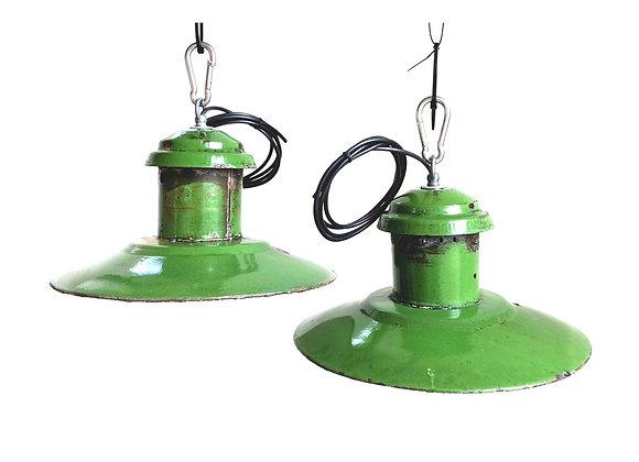 Industriële emaillelampen (Model E - Hoog groen)