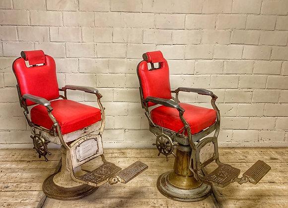 Set vintage barbier stoelen