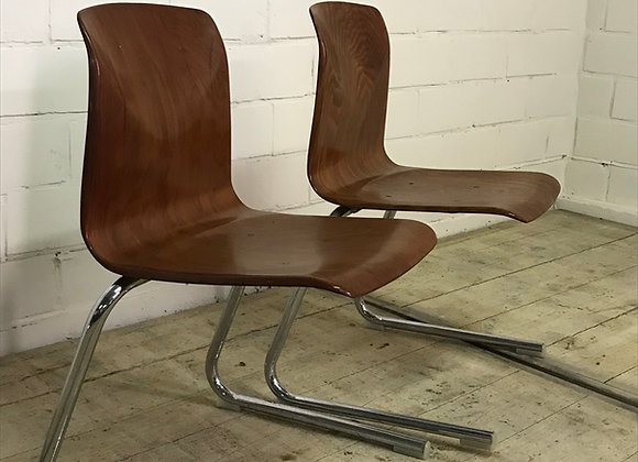 Set vintage stoelen met Pagholz zitting