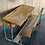 Thumbnail: Vintage school bench (green)