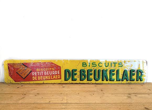 Glazen reclamebord 'De Beukelaer' 1957