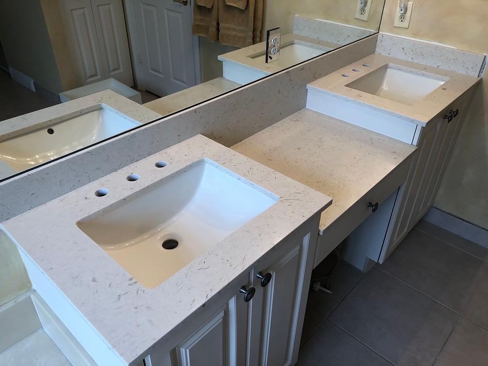 Quartz Countertops installe in Boca Raton FL by Stone and Quartz LLC