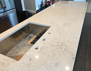 Bianco Drift Caesarstone | Quartz Countertops