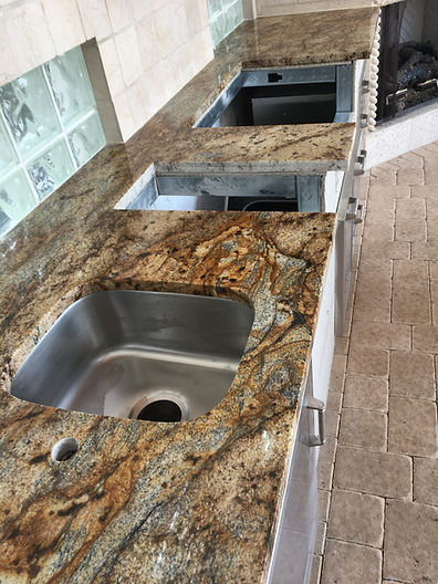 Outdoor kitchen granite Countertops