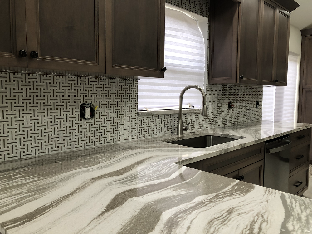 Best Backsplash for Cambria Oakmoor Luxury countertops. Contact Stone and Quartz LLC Countertops and Backsplash experts and installer Boca Raton FL