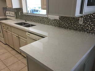 Quartz Countertops and Backsplash