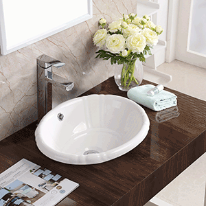 Stone & Quartz LLC | Drop in Tulip Vanity Sink Installed